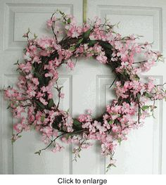 apple blossom (silk wreath)...I think I can do this on my on