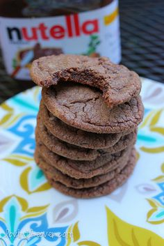 I just made these Chewy Nutella Cookies and they are SO GOOD!!