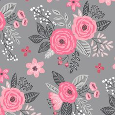 Wallpaper Vintage Antique Floral Flowers Peach on Grey Vintage Antique Floral Flowers Peach on Grey fabric by caja_design on Spoonflower - custom fabric Floral Fabric, Fabric Flowers, Floral Prints, Grey Fabric, Crocheted Flowers, Fabric Patterns, Flower Patterns, Print Patterns, Flower Pattern Design