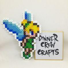 Tinker Bell perler beads by Dinnercrew Crafts