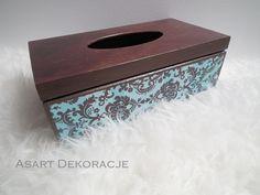 chustecznik decoupage / tissue box decoupage