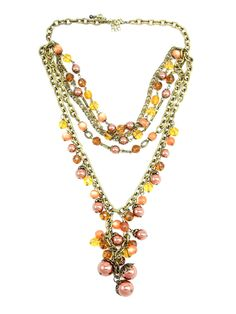 Earth Tone Beaded Necklace - $28.00 : FashionCupcake, Designer Clothing, Accessories, and Gifts