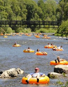 Tubing on the Yampa Steamboat Springs