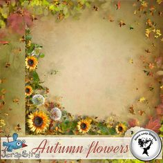 Autumn flowers - Overlays by Black Lady Designs