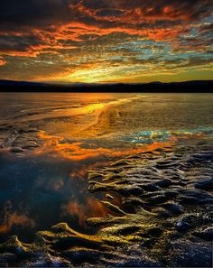 Ice and Sky by Mark Waslick, via Frozen Lake Champlain, Vermont Strange Things Are Happening, Lake Champlain, Sun And Water, Green Mountain, Natural Wonders, Nice View, Vermont, Nature Photography, Beautiful Places