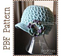 Crochet Patrón del sombrero de vendedor de por EmieGraceCreations, $3.99