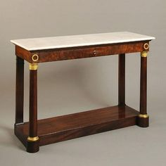 Empire console 'desserte' Ca1830 France. Antique Furniture, Furniture Decor, Entryway Decor, Entryway Tables, Movement In Architecture, Design Movements, Empire Style, Console Tables, Art Decor