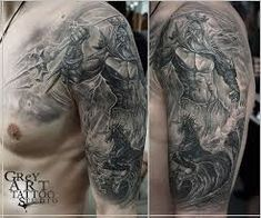 What does poseidon tattoo mean? We have poseidon tattoo ideas, designs, symbolism and we explain the meaning behind the tattoo. Poseidon Tattoo, Underwater Tattoo, Kraken Tattoo, Greek Mythology Tattoos, Hourglass Tattoo, Aquarius Tattoo, God Tattoos, Line Work Tattoo, Full Sleeve Tattoos