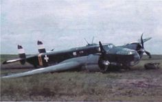 Crashed Ca-135 bomber of the Hungarian Air Force (1941)
