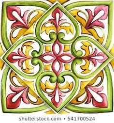Ornamental Vinyl Tiles Stickers Kitchen Bathroom DIY Sticker Tile – T-Shirts & Sweaters Diy Sticker, Painting Tile Floors, Pattern And Decoration, Madhubani Art, Mandala Drawing, Vinyl Tiles, Mosaic Crafts, Celtic Art, China Painting