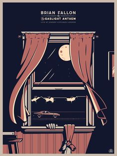 show poster for the Brian Fallon - lead singer of The Gaslight Anthem