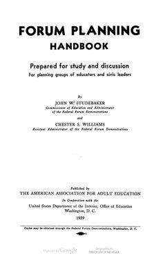 Forum planning handbook