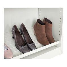 IKEA - KOMPLEMENT, Schoenenplank, 100x35 cm, , Gratis 10 jaar garantie. Raadpleeg onze folder voor de garantievoorwaarden.De schoenenplank geeft een goed overzicht van je schoenen in een garderobekast.De dichte bodem voorkomt dat er vuil buiten de plank valt.Slijtvast en eenvoudig te reinigen.
