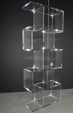 S4 Bookcase Lucite Furniture, Acrylic Furniture, My Furniture, Glass Display Unit, Display Shelves, Acrylic Bookcase, Mobile Shop Design, Bookcases For Sale, Loft Interiors