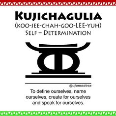 Day 2 - Kujichagulia/Self Determination- To define ourselves, name ourselves, create for ourselves and speak for ourselves.  #kwanzaa #nguzosaba #sevenprinciples #kujichagulia #selfdetermination #ujamaabox