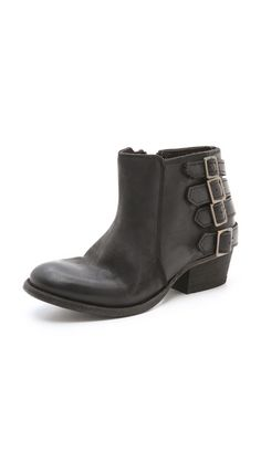 Love these ankle boots for fall! H by Hudson Encke Buckle Booties