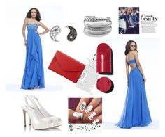Evengingdress in blue. by johnnymuller on Polyvore featuring Fratelli Karida, Neiman Marcus, David Yurman, Sydney Evan and Chanel
