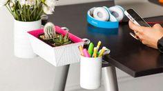 Boîtes de rangement pour fournitures et pots de fleurs