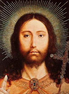 Cristo Salvator Mundi, Christ the Saviour of the World painted by Quentin…