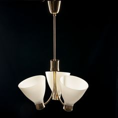 Orno brass chandelier designed by Lisa Johansson-Pape (Stockmann-Orno). Brass Chandelier, Vintage Lighting, Lisa, Ceiling Lights, Pendant, Design, Hang Tags, Pendants