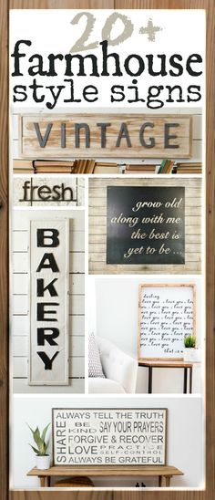 The Best Farmhouse Style signs you can buy online