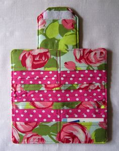 Large Bifold Wallet, Clutch, Made From Love Tumble Roses Pink By Amy Butler. $25.00, via Etsy.