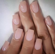 Are you looking for beautiful nails design? Do you like long or short nails? Matte or shiny? Here you can find very good inspirations. Short Square Acrylic Nails, Simple Acrylic Nails, Pink Acrylic Nails, Square Nails, Simple Nails, Natural Acrylic Nails, Pastel Nails, Classy Nails, Stylish Nails