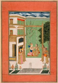 Indische Miniatur - Junge Frau unter Baum/indisch/1633-42 - digitaler Kunstdruck, individuelle Kunstkarte günstig kaufen - auch auf Rechnung!