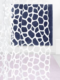 The laser-cut PLOP curtain. Part of the ZOOM collection