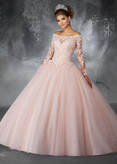c99e994726 Off the Shoulder Lace Quinceanera Dress by Mori Lee Valencia 60052