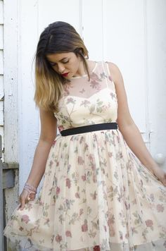 Timeless Optimist blog | fashion, floral dress, floral print, lc lauren conrad snow white collection from kohls, fashion blog, new jersey, new york, holiday dress, dress for work, dress for school, dress for date night, dress for night out, bold red lips