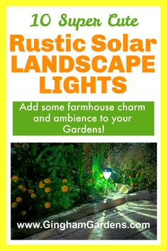 Add some rustic charm and farmhouse character to your landscape and gardens with Solar Landscape Lights. Rustic Garden Decor, Vintage Garden Decor, Rustic Gardens, Flower Garden Borders, Flower Garden Design, Best Perennials, Flowers Perennials, Flea Market Gardening, Garden Inspiration
