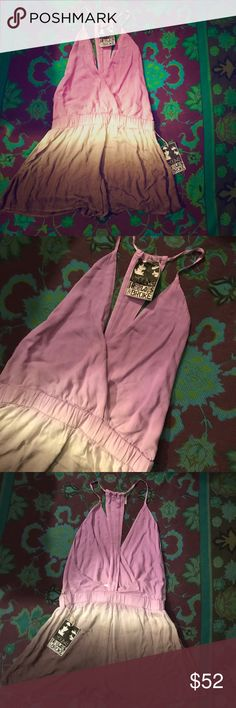 YOUNG FABULOUS & BROKE Purple Brown Ombre Romper L Gorgeous romper purchased from Nordstrom & never worn; in new condition with tag attached. Best fits size L as marked. Young Fabulous & Broke Pants Jumpsuits & Rompers