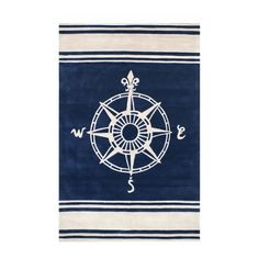 Classic Compass Rug In Navy By Nejad Rugs, Round U0026 Oval Rugs, Rugs For