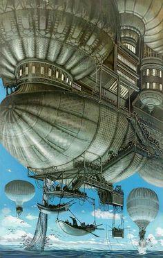 Monde volant à vapeur