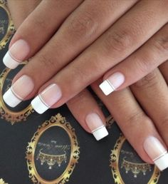 I love these nails who did them I would love to k ow because I want my nails don. - - I love these nails who did them I would love to k ow because I want my nails done by this person Nude Nails, White Nails, Pink Nails, My Nails, Perfect Nails, Gorgeous Nails, Pretty Nails, French Nails, French Manicures