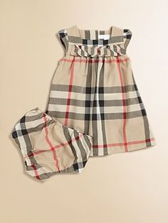 Burberry - Infant's Check Dress & Bloomers Set