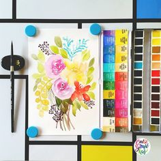 Loose & quick florals to test my new Schmincke Horadam watercolors.   And to review, before I've had this set I wasn't expecting super vibrant colors with these since some of my friends already told me that the colors are a bit muted compared to W&N, I find it to be quite true but I find that if I put more pigment you can really see the full vibrancy so like my Sennelier the first time I tried it I was super careful of putting a lot of pigment cause when I dip my brush to...