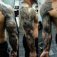 Cyborg Armor Sleeve   Best tattoo ideas & designs