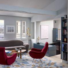 Un appartement sous les toits de Paris © Philippe Garcia (AD n°114 février-mars 2013)