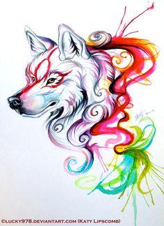 Okami Tattoo by Lucky978.deviantart.com on @deviantART