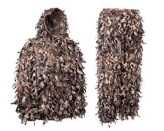 North Mountain Gear 3D Camo Hunting Ghillie Suit Lightweight Woodland Brown Camo