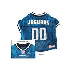 Pets First Jacksonville Jaguars NFL Dog Jersey - Extra Small