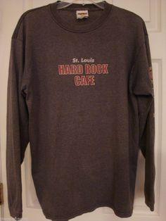 HARD ROCK CAFE Shirt Mens Womens St Louis Missouri Long Sleeve HARDROCK Long Slv