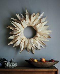 Corn-Husk Wreath and more on MarthaStewart.com