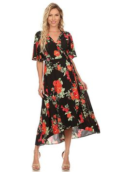 Midsummers Night Dream Kimono Wrap Maxi Dress - ShopLuckyDuck  - 1