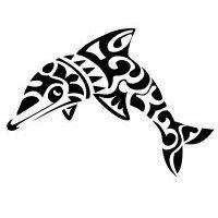 Maori dolphin tattoo