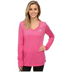 adidas CLIMACOOL Aeroknit Long Sleeve Tee Women's Workout ($35) ❤ liked on Polyvore featuring activewear, activewear tops, adidas sportswear, adidas activewear, logo sportswear and adidas