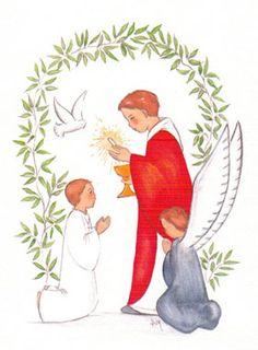 Carte de Communion - Première Communion Garçon First Communion Favors, Première Communion, Communion Cakes, First Holy Communion, Christening, Illustrations, Quilling, 1, Bible