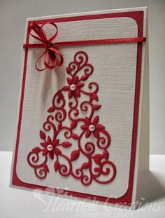 Heartfelt Creations | Simple Poinsettia Tree